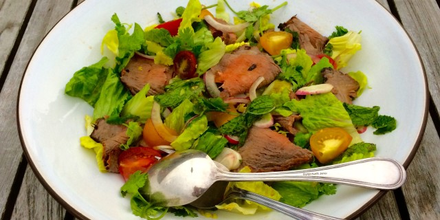 Thai Style Flank Steak Salad