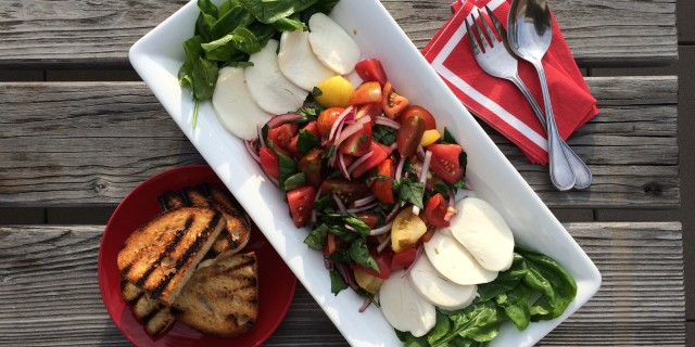 Jersey Tomato Salad with Tomato Juice Vinaigrette